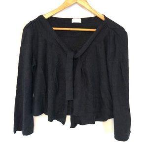 Valentino Angora Blend Black Cardigan Sweater